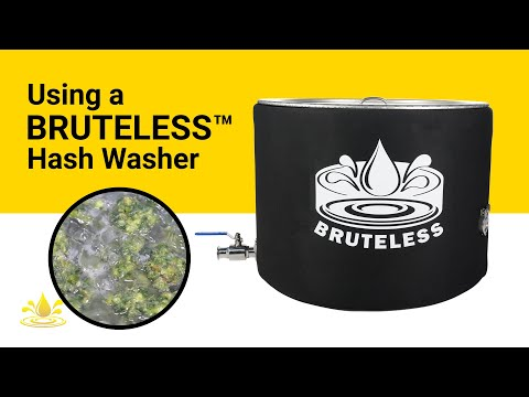 Washing Chem D Bubble Hash In A Bruteless™ Vessel