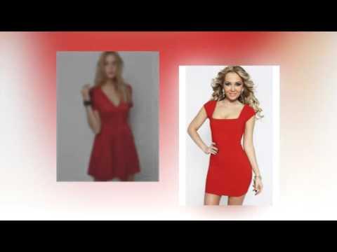 Элегантные и стильные красные платья