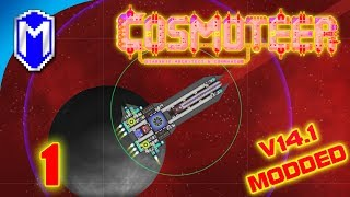 New Railgun And Modded Mines, Battling The BloodCult - Let's Play Cosmoteer v14.1 Mods Gameplay Ep 1