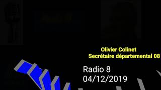 Interview Radio 8 Olivier Colinet Départemental Alliance Police Nationale Ardennes