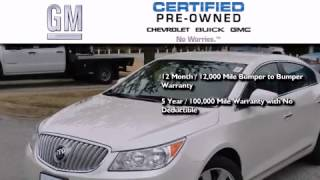 Certified 2012 Buick LaCrosse Ft. Worth TX