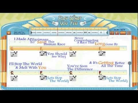 Melt With You - Modern English - Chords & Lyrics, Guitar Lesson, Guitaraoke - playwhatyoufeel