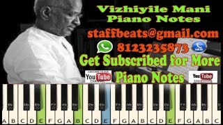 Vizhiyile-Piano Notes-Music Sheet-Midi File
