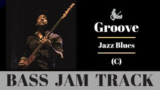 groove bass jam | smooth jazz blues backing track (c)