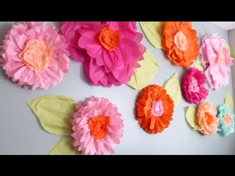 Giant tissue paper flower tutorial part one youtube giant tissue paper flower tutorial part one mightylinksfo