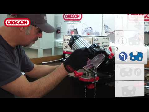 Oregon 511AX Chain Grinder Set-up and Grinding Instructions