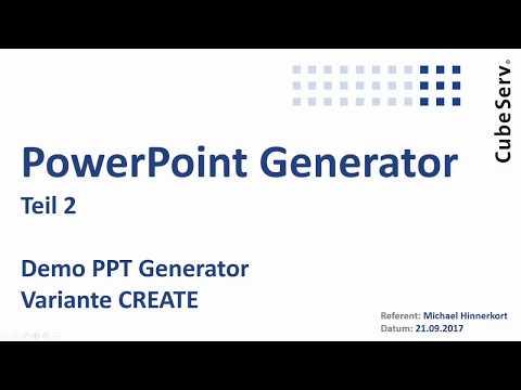 CubeServ PPT Generator Teil 2 V2 Demo – Variante CREATE