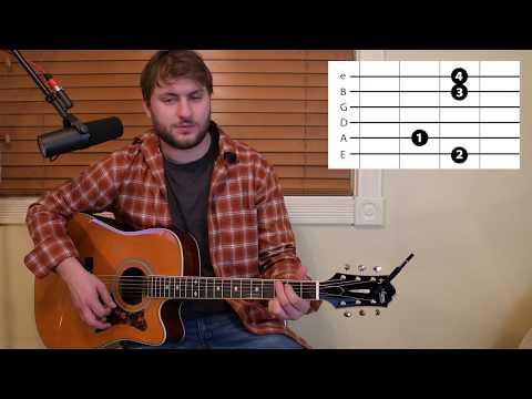 Kinda Don't Care - Justin Moore - Guitar Lesson - Beginner / Intermediate - Intro / Verse / Chorus
