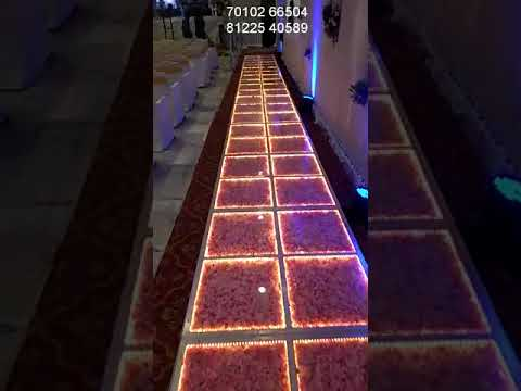 Glass Floor Entry Pathway | Stage platform Wedding Marriage Reception Event Decoration India +91 81225 40589