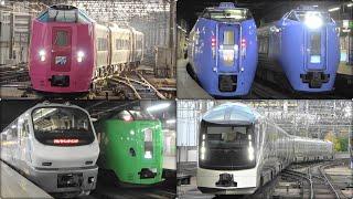 札幌駅で! キハ261系はまなす編成・キハ183系特急オホーツクなど Limited express trains at Sapporo Station