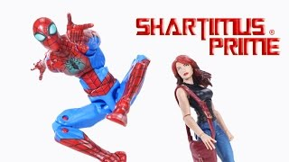Marvel Legends TRU Spider-Man Mary Jane Watson Toys R Us Exclusive 2-Pack Action Figure Toy Review streaming
