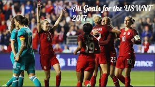 All Goals Scored by the USWNT in 2017 ● All Competitions ● US Women's National Team