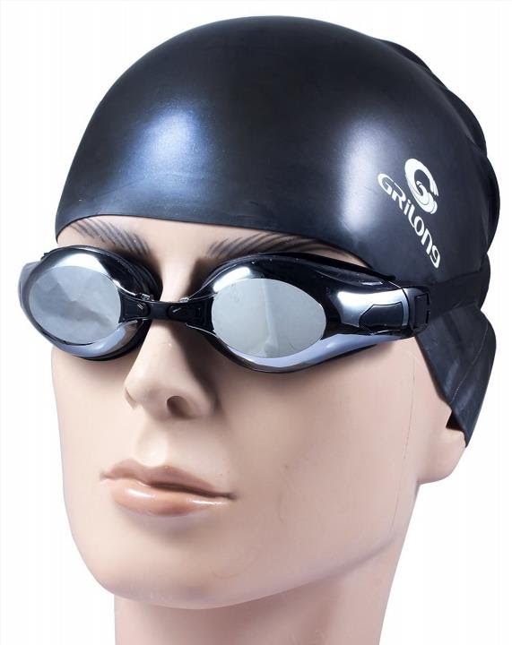 3ee3306db8a4 Swimming Goggles swim Cap Set, Silicone Swim Goggles Glasses & Anti Fog  Swim Cap For Men & L