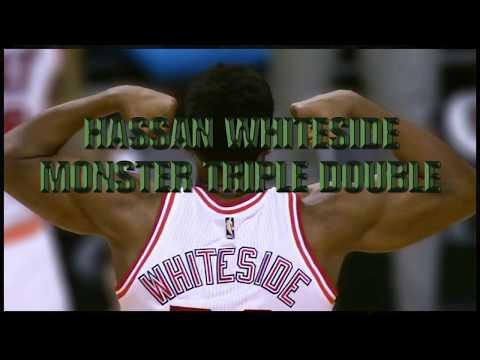 Hassan whiteside Monster Triple double
