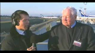 "Joe Sutter ""Father of 747"" Interview - after 747-8F first flight and landing"
