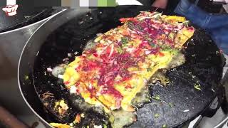 comida de la calle India no huevos tortilla besan pudla sandwich Nuevo 2018