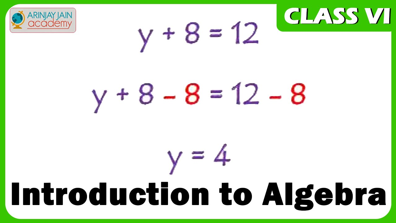 Introduction to Algebra - Maths Class VI - CBSE/ ISCE/ NCERT
