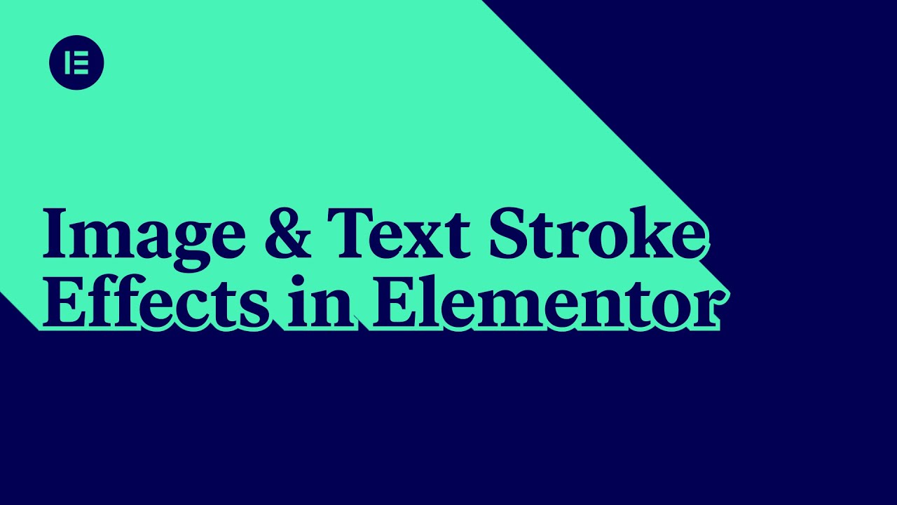 Image & Text Stroke Effects in Elementor [Advanced]