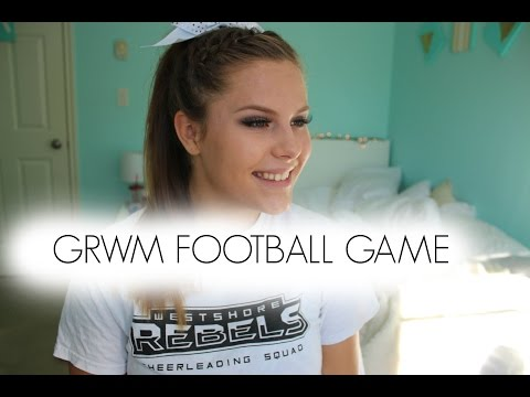 GRWM Football Game 2015 Cheer hair + makeup