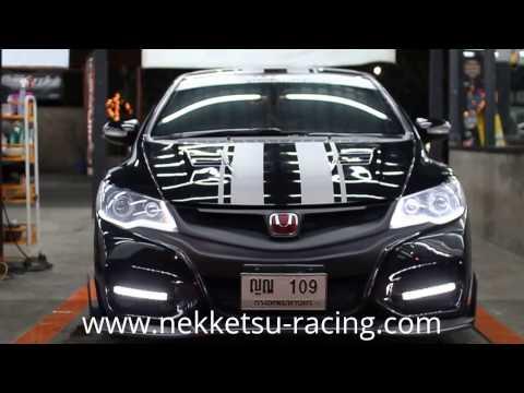 ชุดแต่ง Honda Civic FD ทรง TypeR 2015 สีดำ จาก NEKKETSU racing