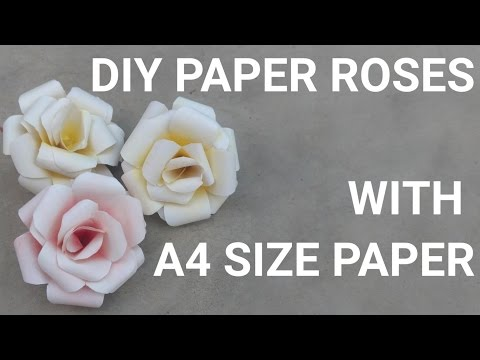 DIY Paper Roses With A4 Size Page | Dizineed