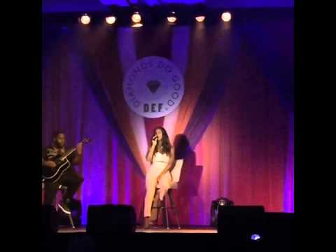 Kelly Rowland Live @ 'Diamond Empowerment Fund' (When Love Takes Over acoustic)