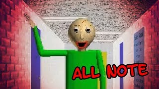 Baldi's Basics in Education and Learning ALL NOTES