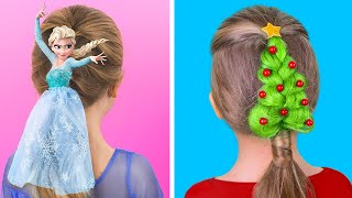10 Cute Hairstyle Ideas for Girls / Christmas Hairstyle Ideas
