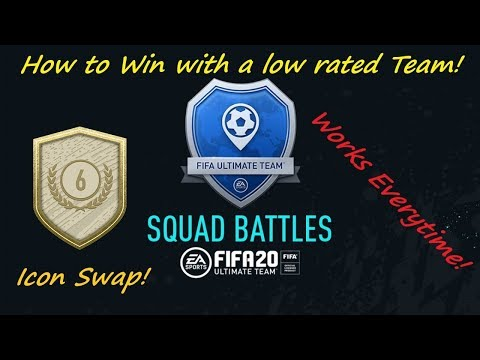 How To Win Against Squad Battles With Low Rated Team! FIFA 20 Icon Swaps