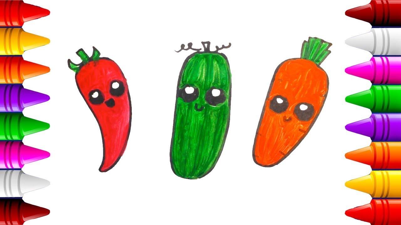 Frutas Y Verduras Kawaii Dibujos Para Colorear Aprende Los