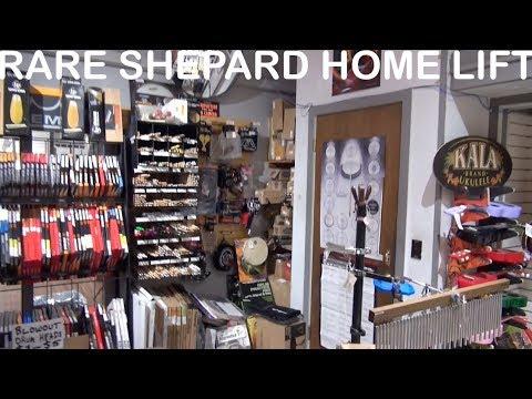 Rare Shepeard Home lift elevator at Alamo Music San Antonio TX