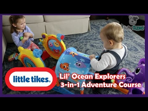 Cute Kids Little Tikes Lil' Ocean Explorers 3 in 1 Adventure Course Review