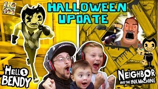 Download HELLO BENDY + NEIGHBOR & the INK MACHINE Halloween Mod! FGTEEV-ers LETS CELEBRATE! Surprise Gameplay Mp3 and Videos