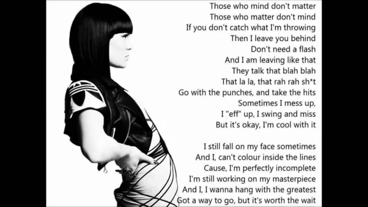 Jessie J- Masterpiece (lyrics)
