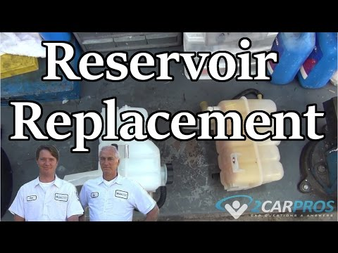 HOW TO REPLACE A COOLANT RESERVOIR IN 15 MINUTES! - Chevrolet Silverado, Tahoe 2000-2006