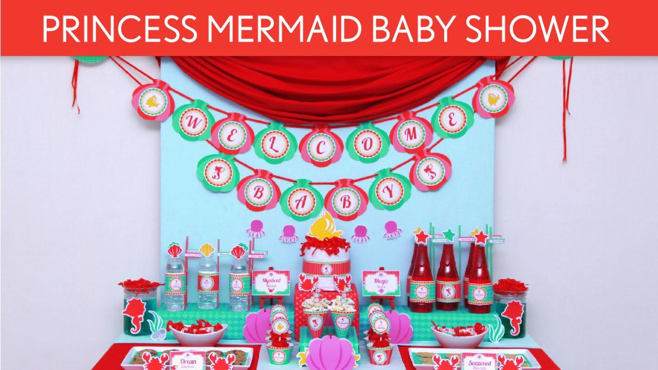 princess mermaid baby shower judul tema s44 youtube