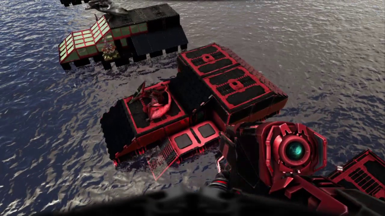ARK PS4: Multi-raft base build with motorboat/raft armada tour