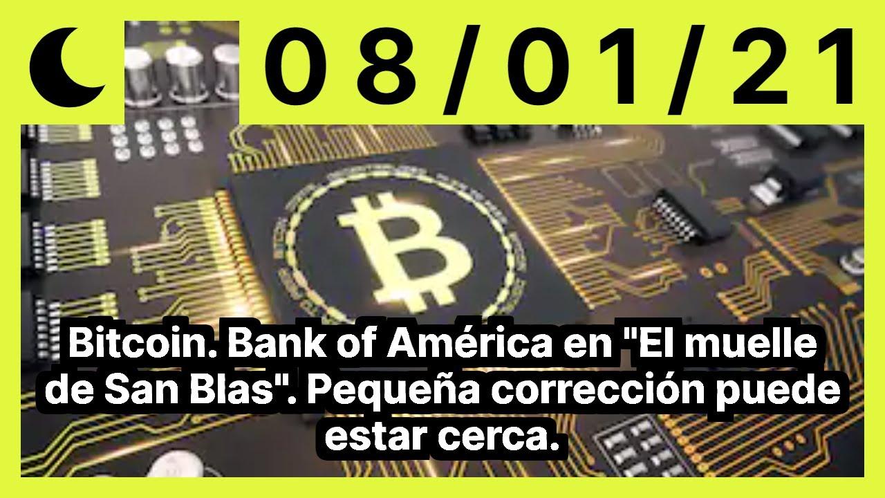 Bitcoin. Bank of América en