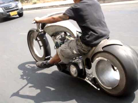 Hubless Motorcycle Hot Rod Pattaya Thailand