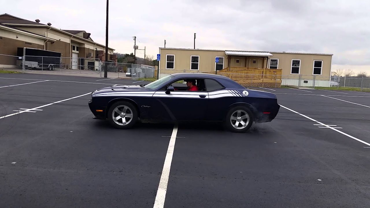 V Dodge Challenger Burnout Stock