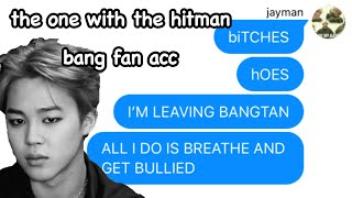 bTs tExTs- tHe onE wiTH thE HitmAn BanG fAn aCCouNt