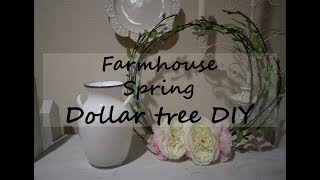 DOLLAR TREE DIY  // SPRING // FARMHOUSE //