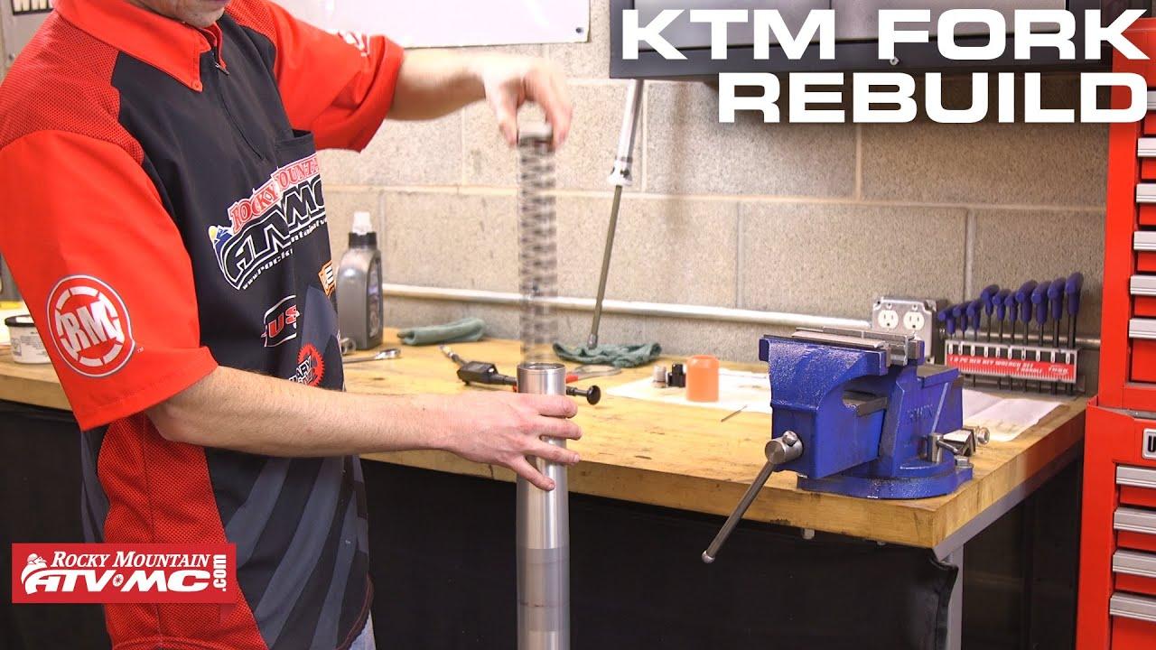 how to rebuild ktm/husqvarna wp bladder style forks - youtube