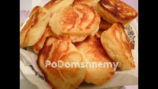 Пышные Оладьи (Оладушки) с яблоками на кефире и дрожжах