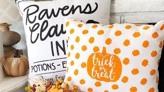 REUSABLE NO SEW Pillow Cases   Target 🎯 Dollar Spot   Halloween Fall Decor   Dollar Tree