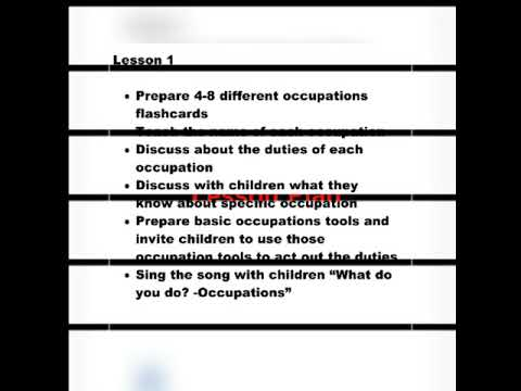 Interactive Occupation Lesson Plan