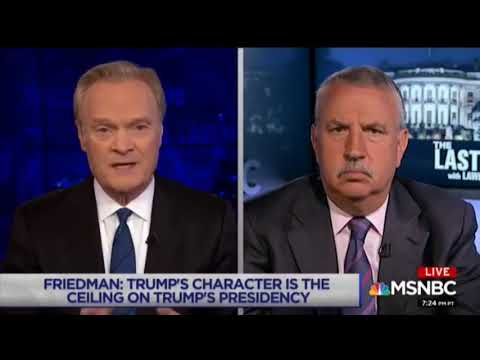 Thomas Friedman thinks Trump is a disturbed person & wants his disturbing rallies Televised Fully