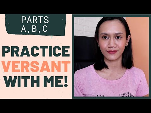 VERSANT PRACTICE TEST DEMO: PARTS A-C | Tips To Pass Versant English Test