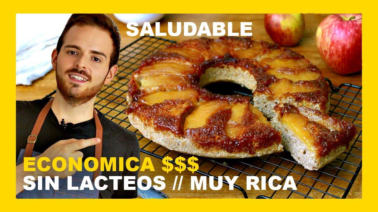 🔶 RECETA torta invertida de manzana FACIL con ACEITE (receta tarta VEGANA)