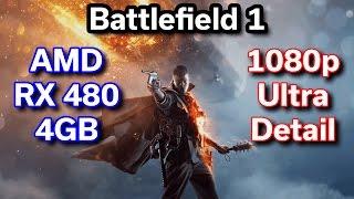 battlefield 1 rx 480 4gb i5 6402p cyberpowerpc benchmark